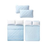 61预售:淘宝心选 新科技凉感四件套(被子+床垫+枕套*2) 1.5m