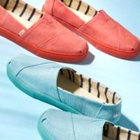 1日0点、61预告:TOMS 汤姆斯 10013489 平底帆布鞋