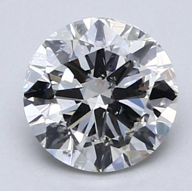 Blue Nile 1.00克拉圆形切割钻石 良好切工 J 级成色 SI2净度