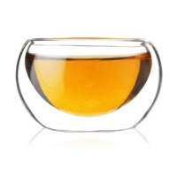 beihe贝合  高硼硅双层玻璃茶杯50ml 3个装