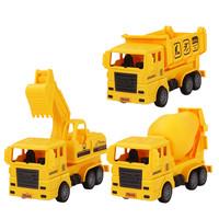 锦明玩具 消防/工程惯性车 14*6*7cm 3辆装 送回力车3辆