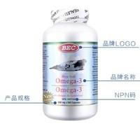 BEC 海豹油 Omega-3胶囊 500粒/瓶