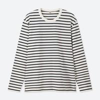 UNIQLO 优衣库 419749 男款水洗横条T恤