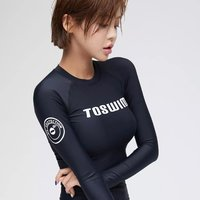 TOSWIM 拓胜 TS81120632 黑色冷峻分体式泳衣 *2件