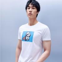 61预告:Joeone 九牧王 TT2027G12 印花短袖T恤