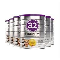 预售22点截止、61预售:a2 艾尔 白金婴儿配方幼儿奶粉 3段 900克 6罐装