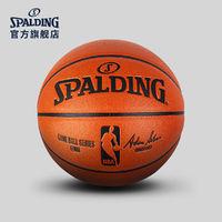 SPALDING官方旗舰店NBA职业比赛用球PU复刻版篮球7号球74-570Y