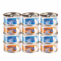 MONGE 梦吉 猫罐头水果海鲜白肉汤罐零食80g 6罐混拼 *4件