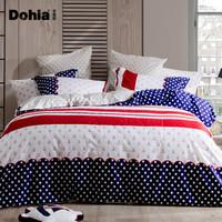 1日0点、61预告:Dohia 多喜爱 雅克德罗 英伦风纯棉床上四件套 1.8米床