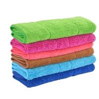 汇洁 珊瑚绒洗碗布 5条装