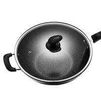 SUPOR 苏泊尔 EC32SP02 麦饭石不粘平底炒锅 32cm 黑色