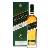 JOHNNIE WALKER 尊尼获加 绿牌绿方威士忌whisky洋酒 750ML
