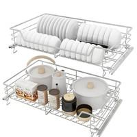 mvk 厨房 双层不锈钢拉篮 500柜体