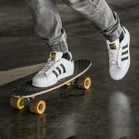 1日10点:adidas 阿迪达斯 三叶草 SUPERSTAR 中性金标贝壳头休闲鞋