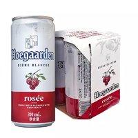 Hoegaarden 福佳 玫瑰红啤酒 310ml*4听 *6件