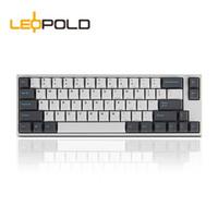Leopold 利奥博德 FC660M PD 加厚PBT  66键 机械键盘 Sky 红轴