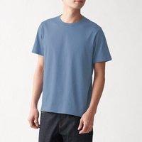 MUJI 无印良品 ABA01A0S 男式印度棉天竺编织圆领短袖T恤 *2件