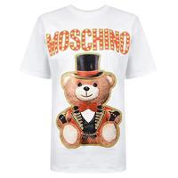 历史低价:MOSCHINO 莫斯奇诺 小熊印花 EV0702 女士短袖T恤