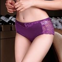 Hongliji 红莉姬 蕾丝镂空包臀女士内裤 3条装