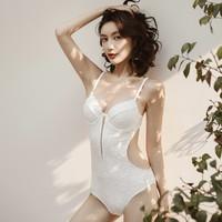 Aimuhu 艾慕狐 白色连体修身泳衣 *3件