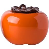 洛威 景德镇陶瓷 柿子茶叶罐 小号