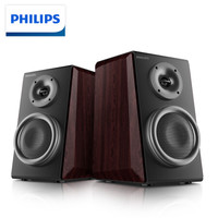 PHILIPS 飞利浦 MMS8000 蓝牙无线 HIFI 有源 2.0 书架音箱