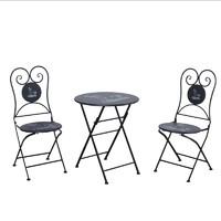 兆生 北欧户外可折叠桌椅一桌两椅