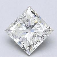 Blue Nile 1.01克拉公主方形钻石 非常好切工 J级成色 SI2净度