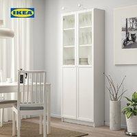 限地区:IKEA 宜家 毕利 带板玻璃门书柜 白色