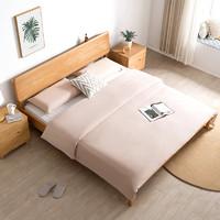 6日0点、历史低价:CHEERS 芝华仕 爱蒙 C032 现代简约纯实木床 1.5/1.8m