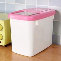 移动专享:莱杉 塑料米桶+量米杯 15斤大米可装