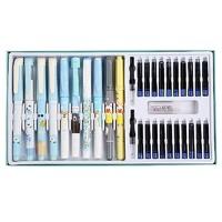 eosin 永生 学生钢笔套装(明尖钢笔*2+暗尖钢笔*3+消字笔+吸墨器*2+笔尖*5+墨囊*10)