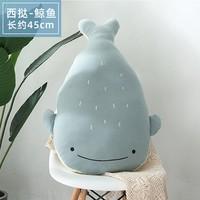 蓝白玩偶 动物公仔 洛苏抱枕