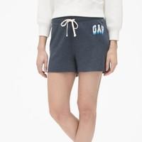 限尺码:Gap 盖璞 464048 女装徽标LOGO毛圈布松紧腰短裤