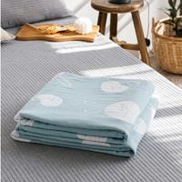Dmingxi 迪铭西 日式三层纯棉盖毯毛巾被 150*200cm