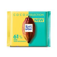 Ritter SPORT 瑞特斯波德 尼加拉瓜系列 浓醇黑巧克力 100g *8件