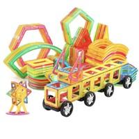JIMITU 吉米兔 磁力片积木套装玩具 36片混合装+教程+车轮+收纳盒
