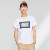 PEACEBIRD MEN 太平鸟 BWDAA2191 男士短袖T恤
