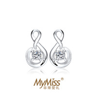 Mymiss ME-0696 人工锆石银耳钉