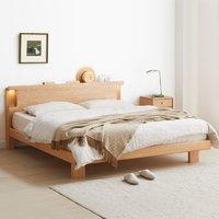 维莎 日式风纯实木双人床 1.2m