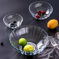 INtrue 水晶玻璃碗 小号 12.5cm 送不锈钢勺子1只