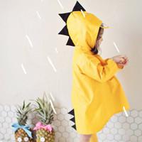 kavar 米良品 小恐龙儿童防水雨衣 黄色