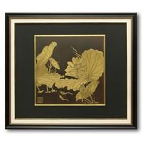 《雕金画》朱军岷 精铜 68 x 60 x 20 cm