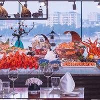 一线江景!海鲜刺身、法式焗蜗牛畅吃!广州白天鹅宾馆流浮阁自助午/晚餐