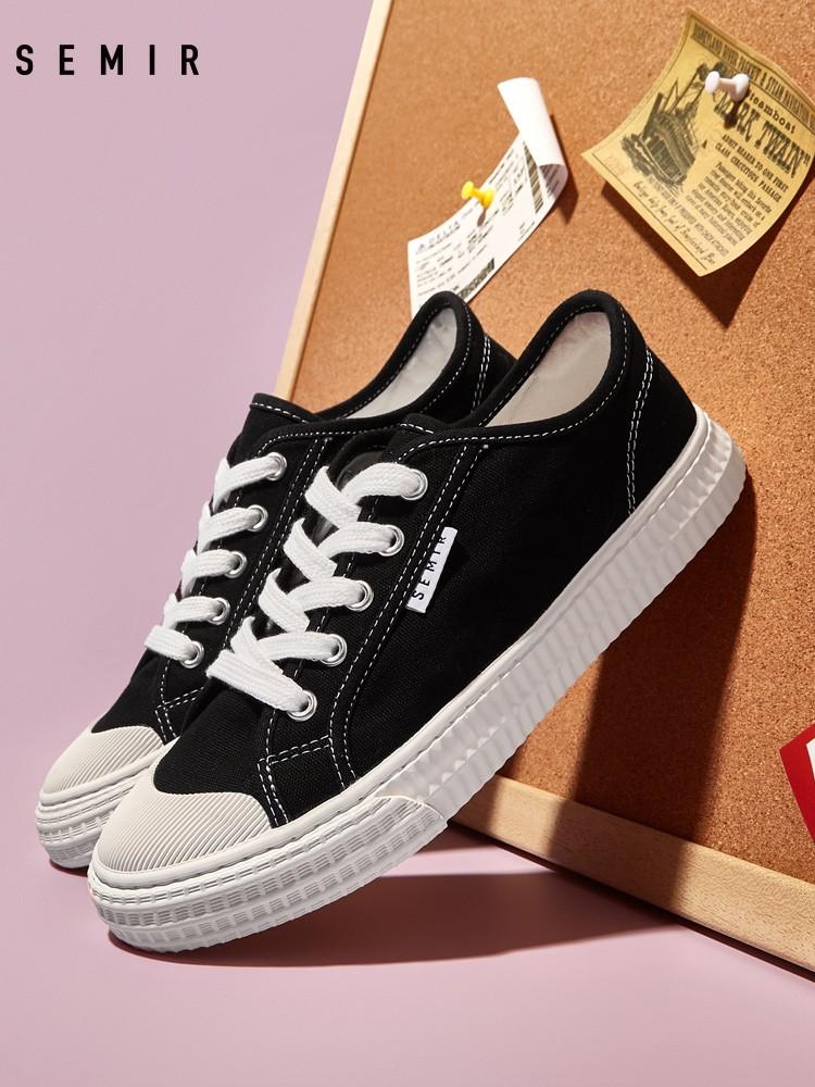 Semir 森马 1601A0410031 女款低帮布鞋