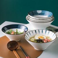 贵润    日式手绘斗笠面碗 7英寸