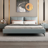 SLEEMON 喜临门 海姆 现代简约实木欧式皮艺床 1.8m