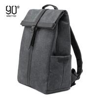 90分 笔记本电脑包15.6英寸双肩包  牛津休闲背包  简约英伦风书包 黑色