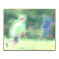 《阳光奔跑》刘艺超|数字版画含装裱|30 x 38 cm