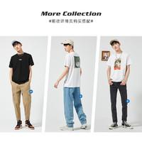 PEACEBIRD MEN 太平鸟 油画胶印系列 男士短袖T恤 *2件